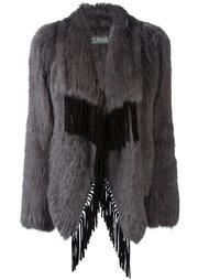 пальто с бахромой Meteo By Yves Salomon