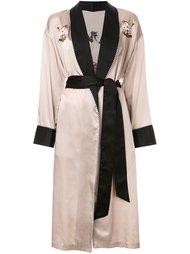 пальто-халат с цветочной вышивкой G.V.G.V.