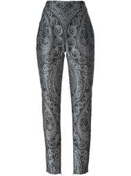 прямые брюки с узором пейсли Balmain