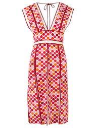 v-neck printed dress Reinaldo Lourenço