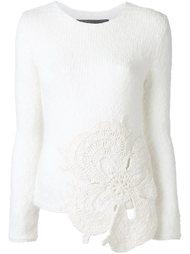 пуловер с заплаткой в виде цветка Jay Ahr