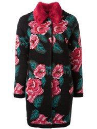 пальто с цветочным узором вязки интарсия Twin-Set