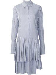 плиссированное платье-рубашка Adam Lippes