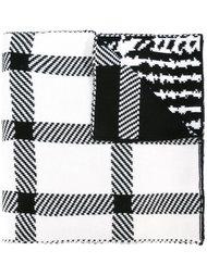 шарф с узором в елочку и ломаную клетку Barbara Bui