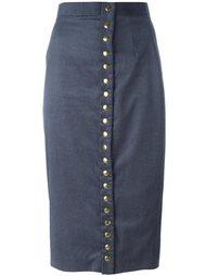 юбка с застежкой на пуговицы Olympia Le-Tan