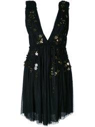платье с цветочной аппликацией Jay Ahr