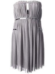 платье без бретелей с серебристой отделкой Jay Ahr