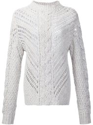 свитер узорной вязки Adam Lippes