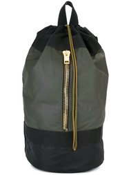 большой рюкзак с золотистой молнией Palm Angels