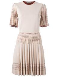 плиссированное трикотажное платье Alexander McQueen
