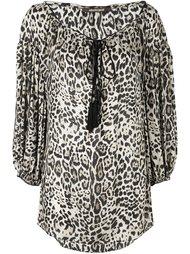 блузка с леопардовым принтом Roberto Cavalli