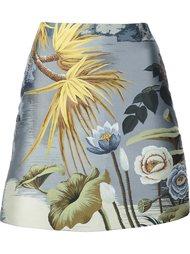 мини-юбка с цветочным принтом Adam Lippes
