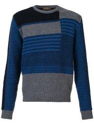 свитер в стиле колор-блок  Etro