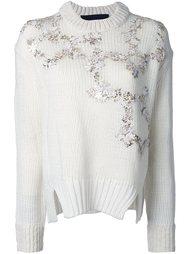 пуловер с золотистой цветочной аппликацией  Jay Ahr