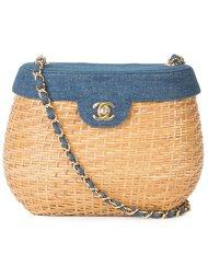 сумка-ведро с отделкой из денима Chanel Vintage