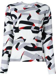 блузка с принтом лент  MSGM