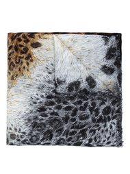 шарф 'Leopard Backbone' Alexander McQueen