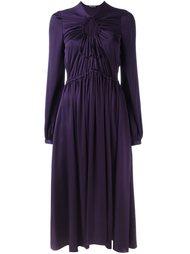 платье с плиссировкой   Rochas