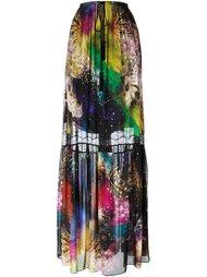 юбка с принтом drawstring 'fireworks' Roberto Cavalli