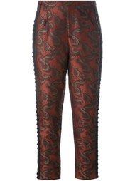жаккардовые брюки  A.F.Vandevorst