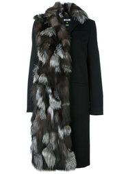 пальто с меховой оторочкой MSGM