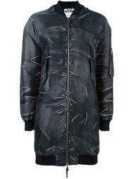 пальто-бомбер с эффектом тромплей  Moschino