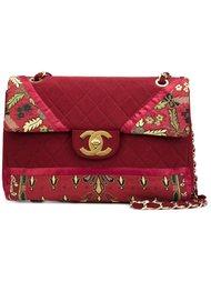 большая сумка-конверт с цветочным рисунком Chanel Vintage