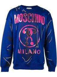 толстовка с принтом вопросительных знаков  Moschino