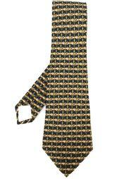 галстук с узором в узлы Hermès Vintage
