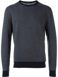 свитер с контрастной окантовкой Ermenegildo Zegna