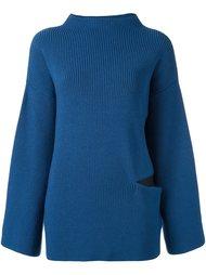 свободный свитер с вырезной деталью Stella McCartney