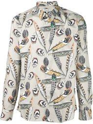 рубашка с принтом перьев  Paul & Joe