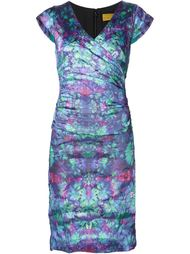 драпированное приталенное платье  Nicole Miller