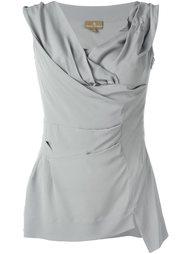 драпированная блузка с V-образным вырезом Vivienne Westwood