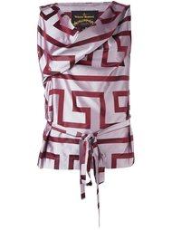 расклешенное платье с геометрическим принтом Vivienne Westwood Anglomania