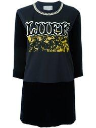 платье с контрастной вставкой  Sacai