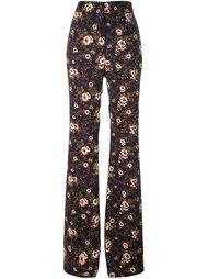 брюки с цветочным принтом Rochas