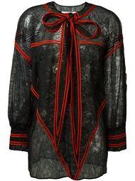 кружевная блузка с завязкой на бант Givenchy