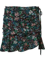 юбка мини с цветочным принтом  Veronica Beard