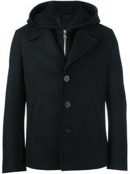 укороченное пальто с капюшоном Neil Barrett
