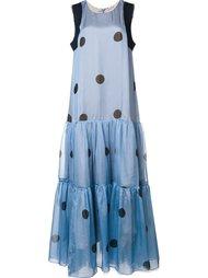 длинное платье с рисунком в горох Natasha Zinko