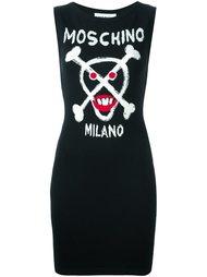вязаное платье с логотипом  Moschino
