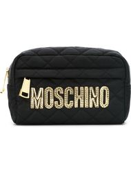 стеганая косметичка с логотипом Moschino