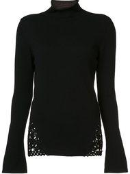 свитер с кружевной вставкой Etro