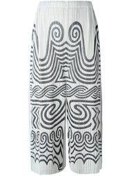 брюки с принтом 'Jomon'  Pleats Please By Issey Miyake