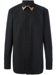 рубашка с контрастным воротником   Givenchy