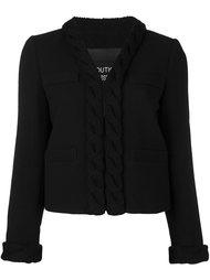 пиджак с трикотажной окантовкой Boutique Moschino