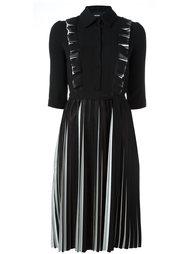 плиссированное платье с длинными рукавами Marco Bologna