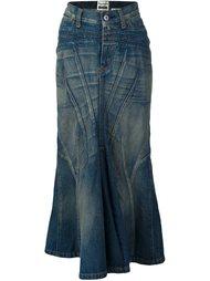 длинная джинсовая юбка Junya Watanabe Comme Des Garçons