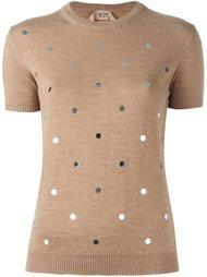 декорированный свитер Nº21